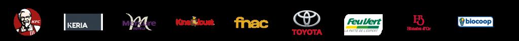 Banderole des logos des partenaires - fabricant d'enseignes et de signalétiques