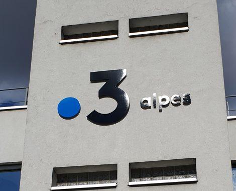 Logo France 3 découpé