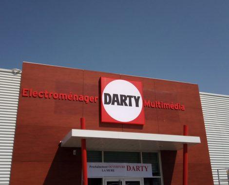 Caisson lumineux Darty