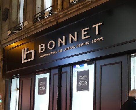 Lettres non-lumineuses Bonnet