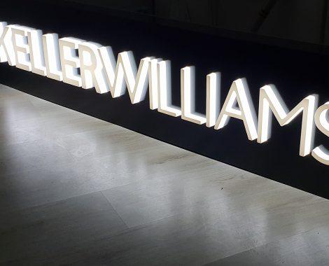 Lettres découpées lumineuses Keller Williams