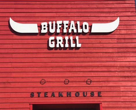Enseigne découpée Buffalo Grill