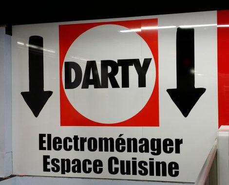 Panneau de signalétique intérieure Darty